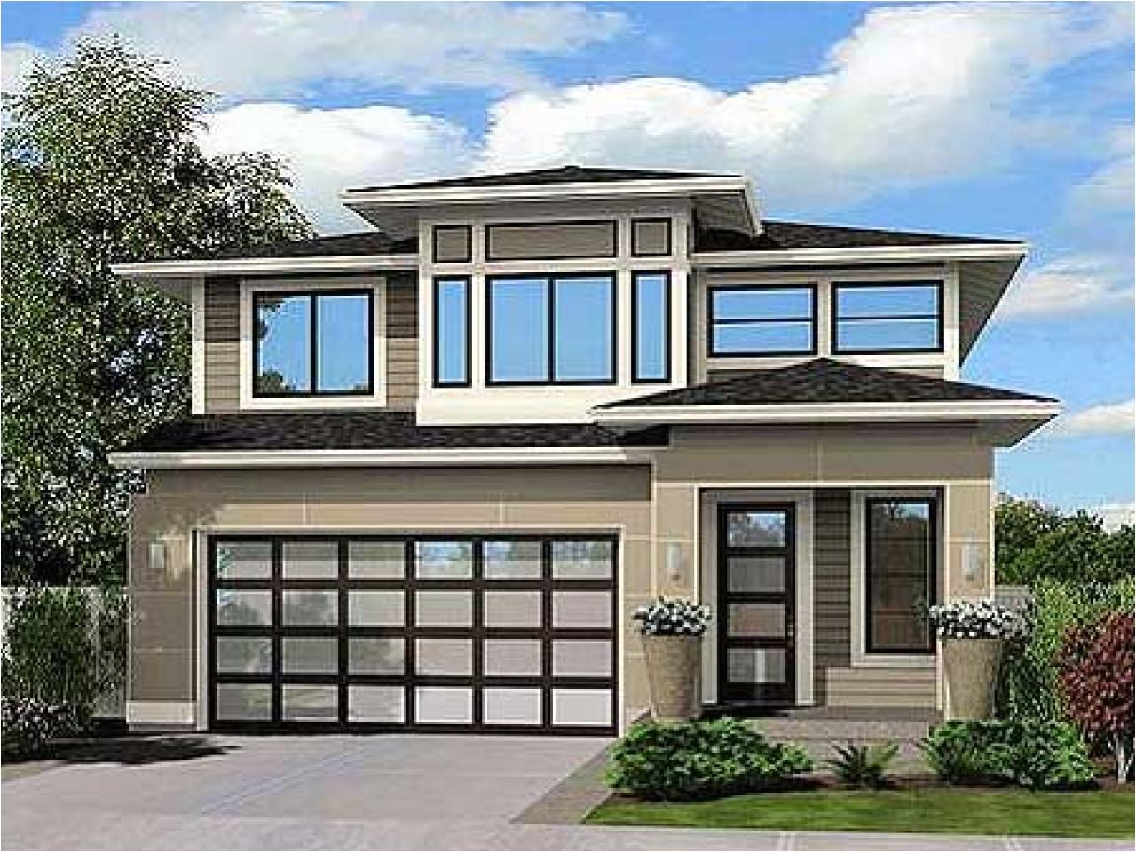 modern narrow lot house plans