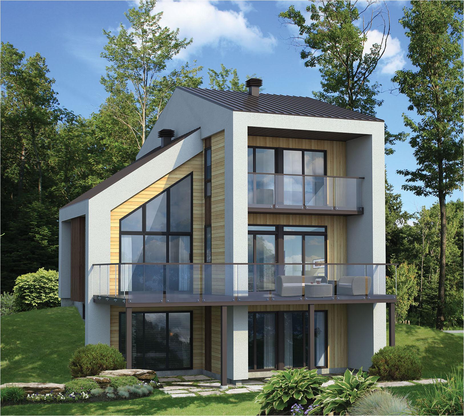 narrow lot contemporary house plan 80777pm