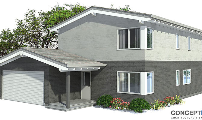smart placement contemporary house plans for narrow lots ideas