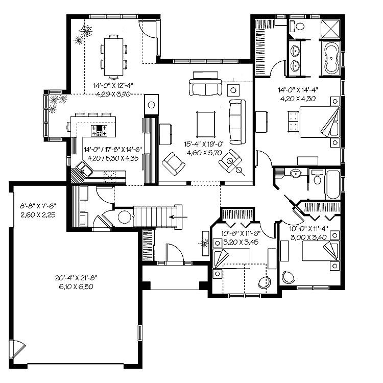 modern house plans under 2000 sq ft