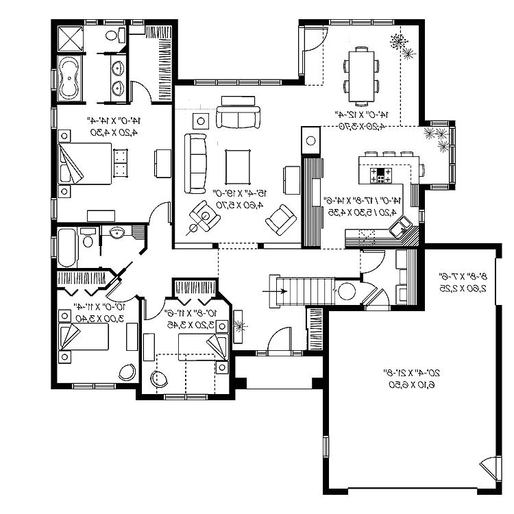 small modern house plans under 2000 sq ft