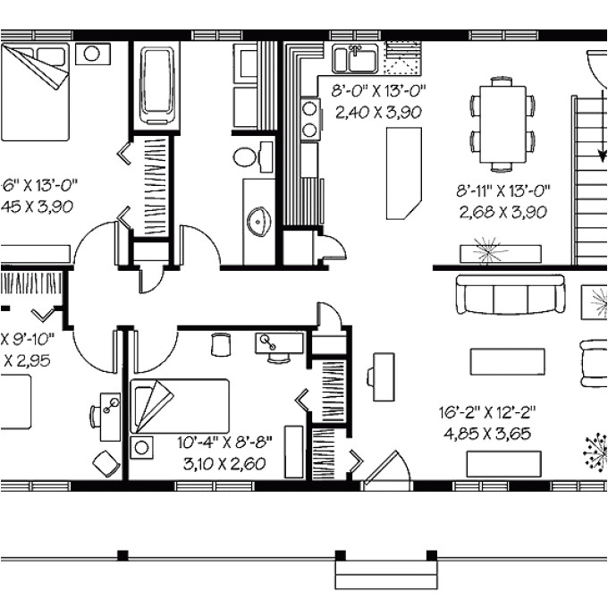 cost effective open floor plans