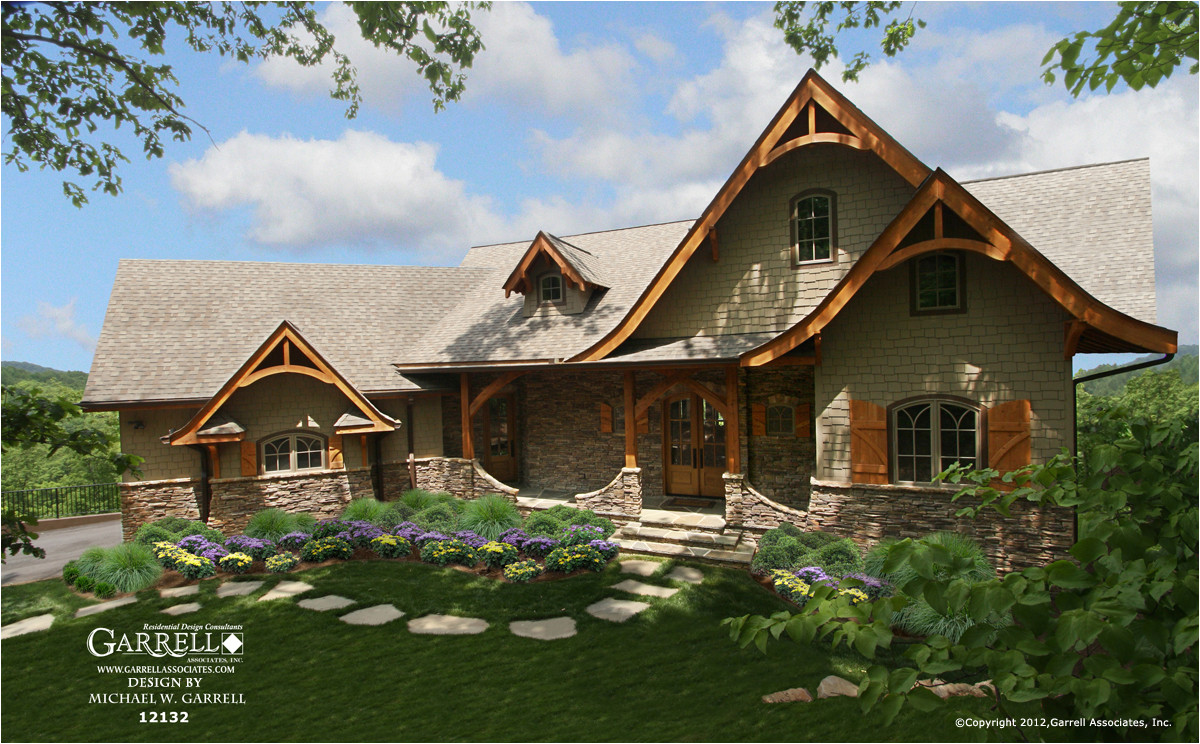 hot springs cottage house plan gable