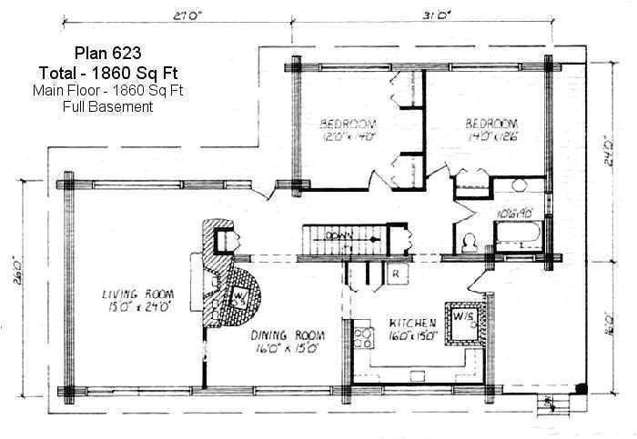 2000 square feet cottage plans