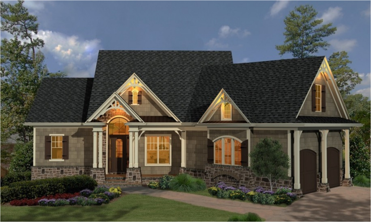 colorful single story cottage style house plans