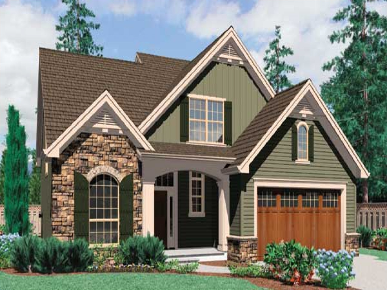 cottage style home designs w