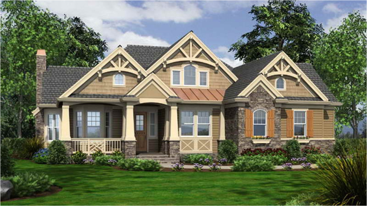 Cottage Style Home Plans One Story Craftsman Style House Plans Craftsman Bungalow
