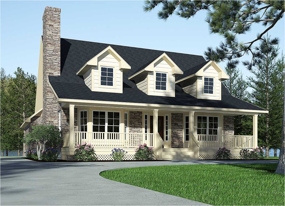 refined country home plan 3087d