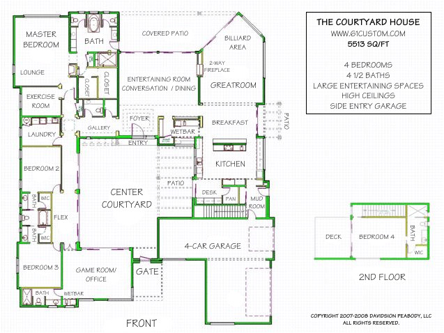 Courtyard Homes Plans Courtyard House Plan Contemporary Courtyard House Plan