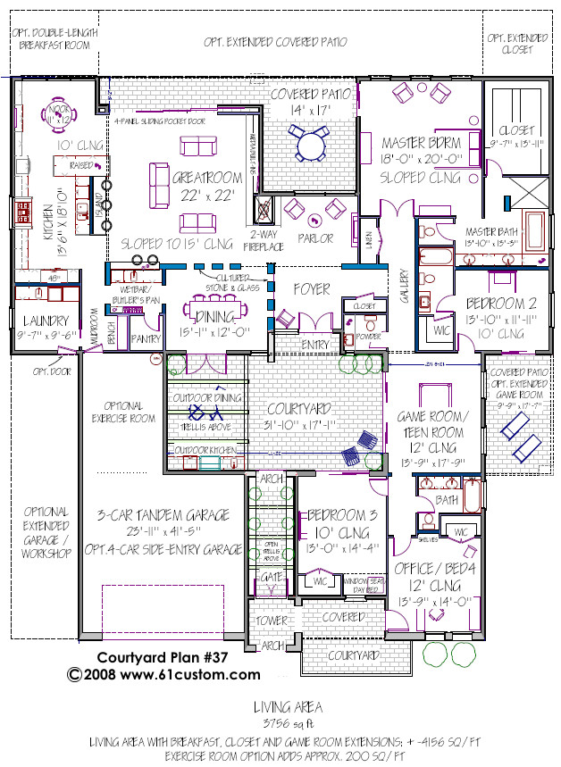 courtyard plan d61 3756