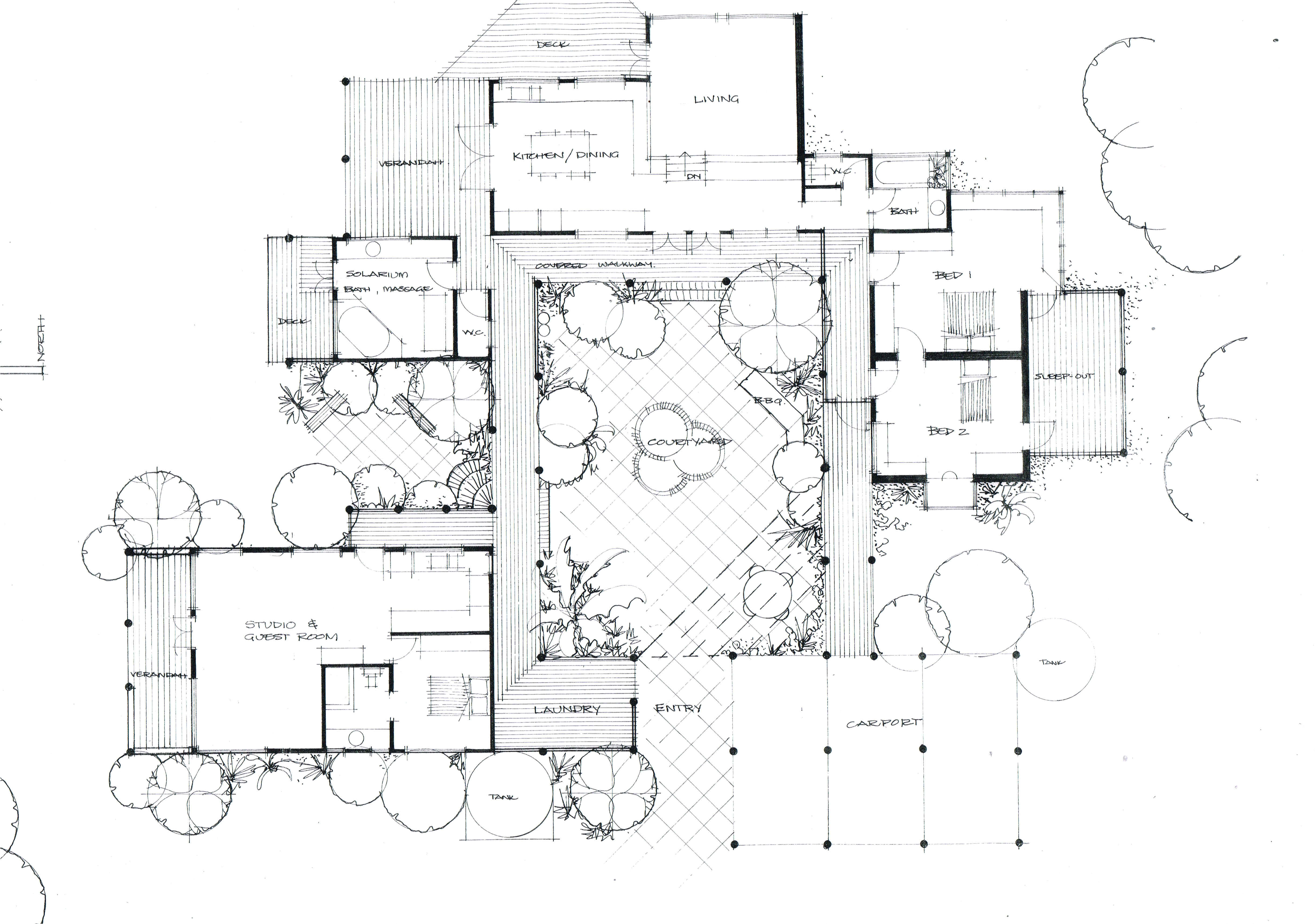 Courtyard Homes Plans the Courtyard House Heather Fraser Building Designer