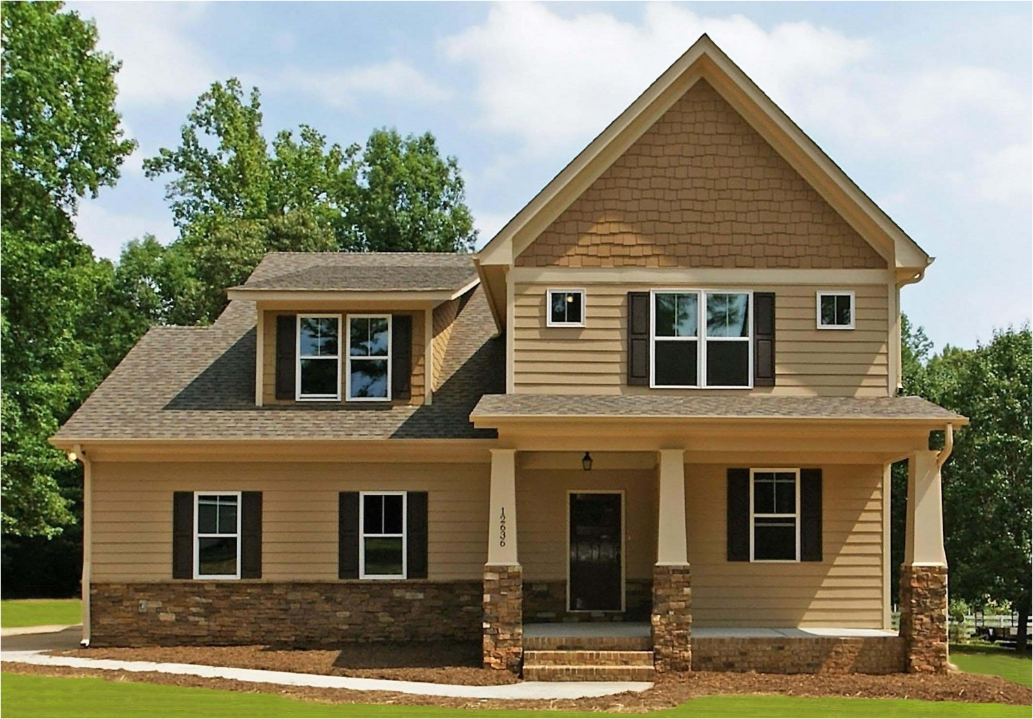 14558 craftsman home plans with front porch