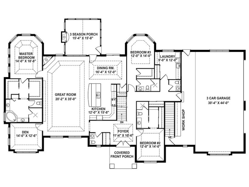 craftsman house plan story retreat open floor 4