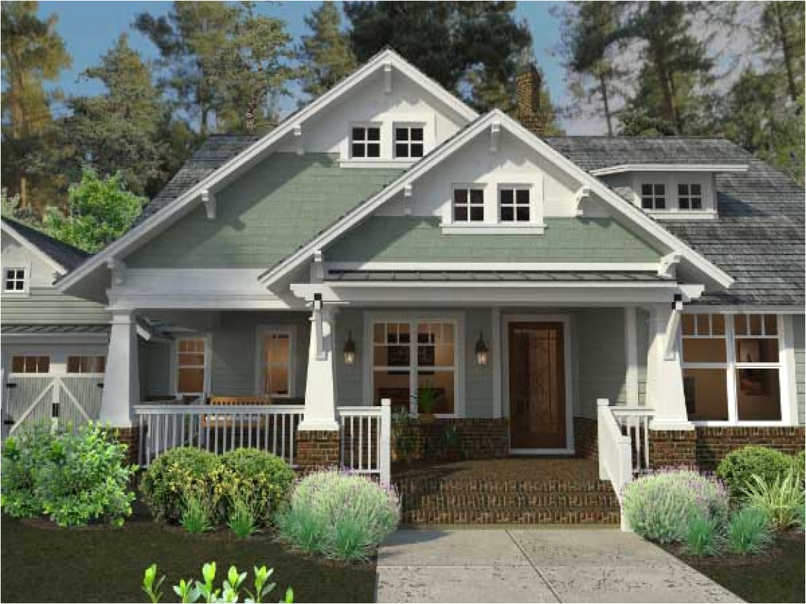craftsman bungalow one story house plans