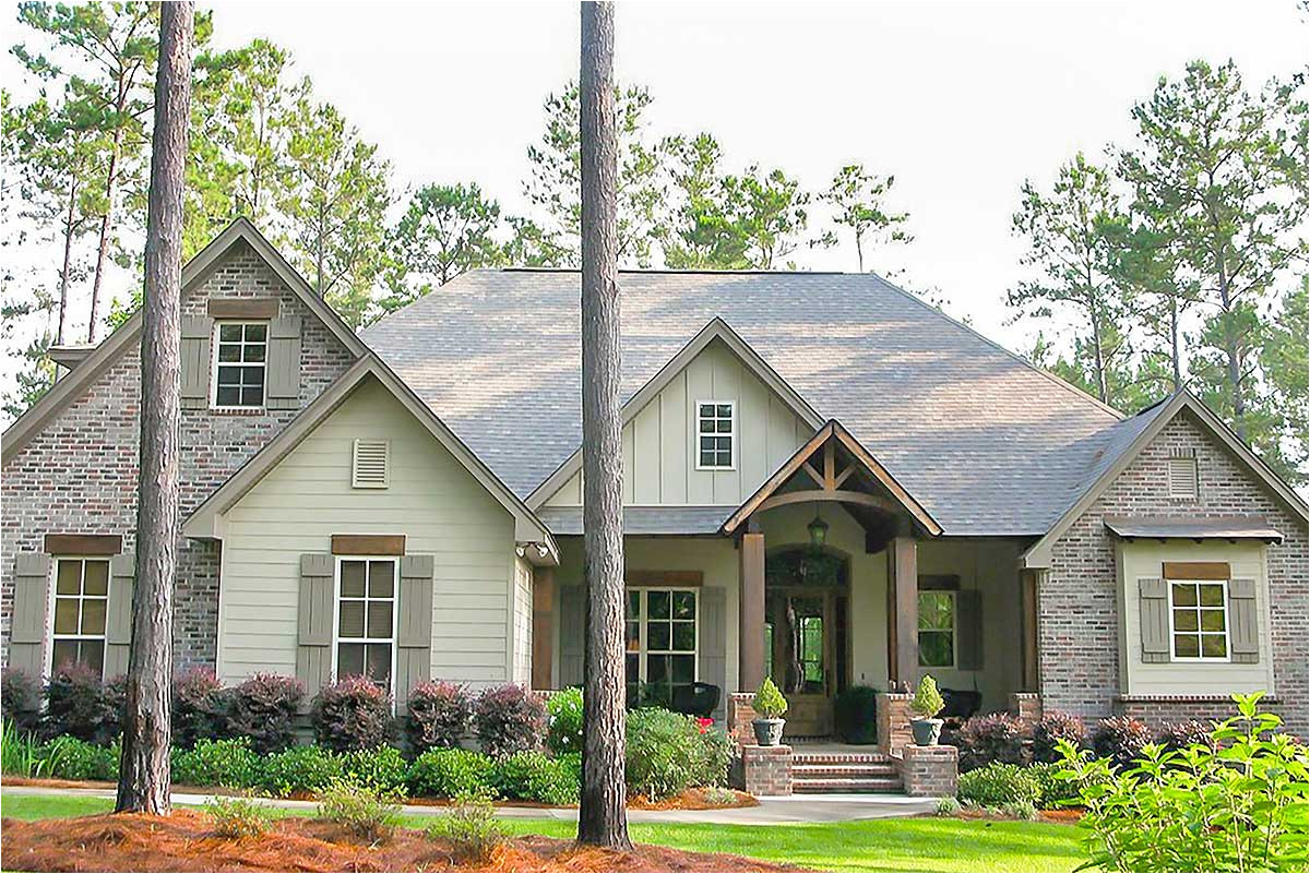 craftsman house plan with rustic exterior and bonus above the garage 51746hz