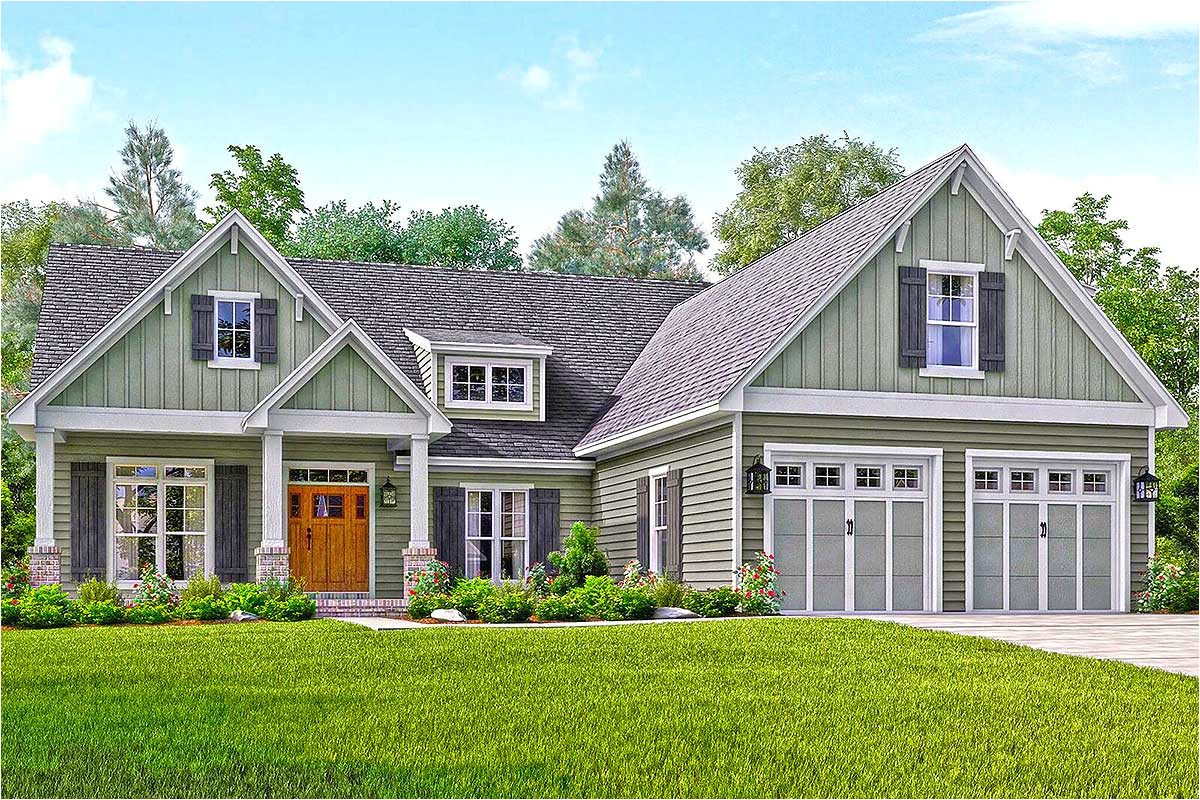 well appointed craftsman house plan 51738hz