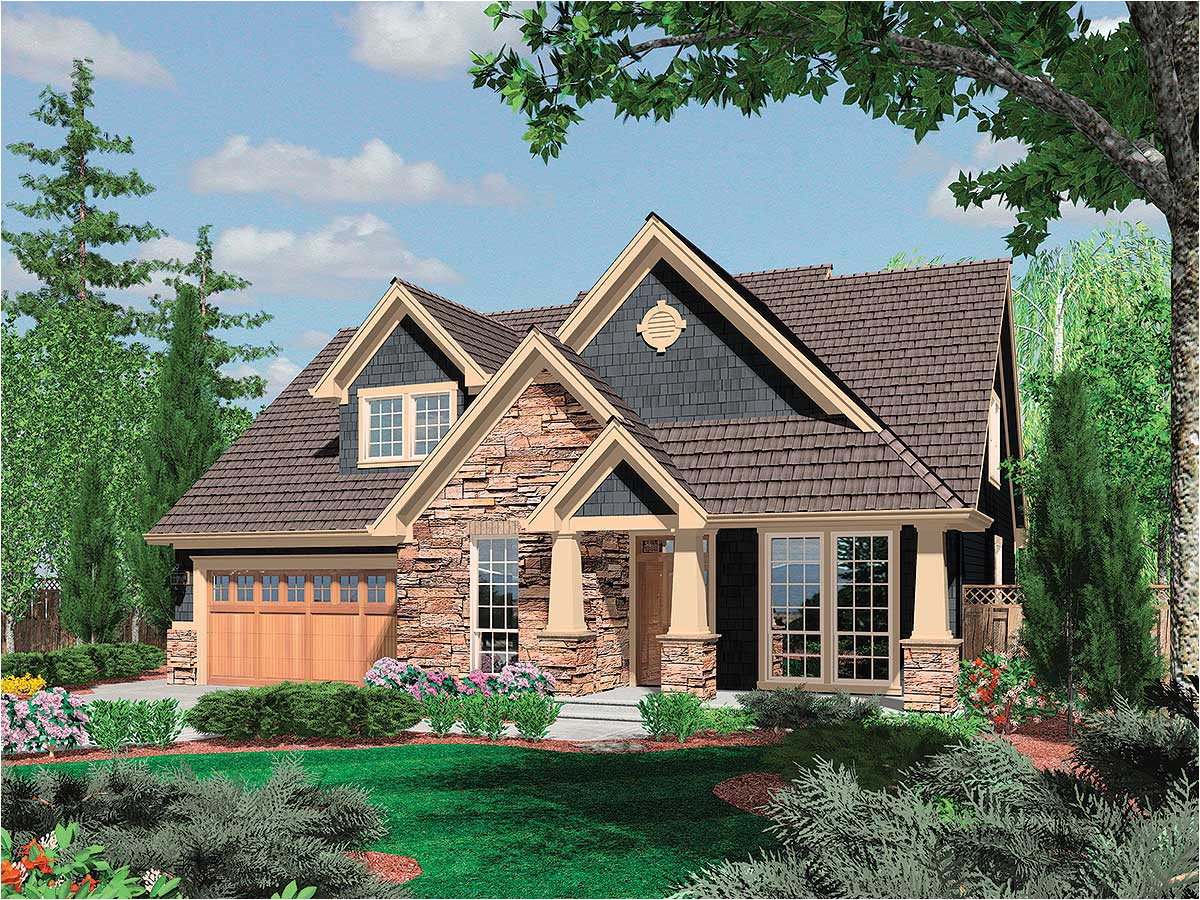 charming craftsman home plan 6950am