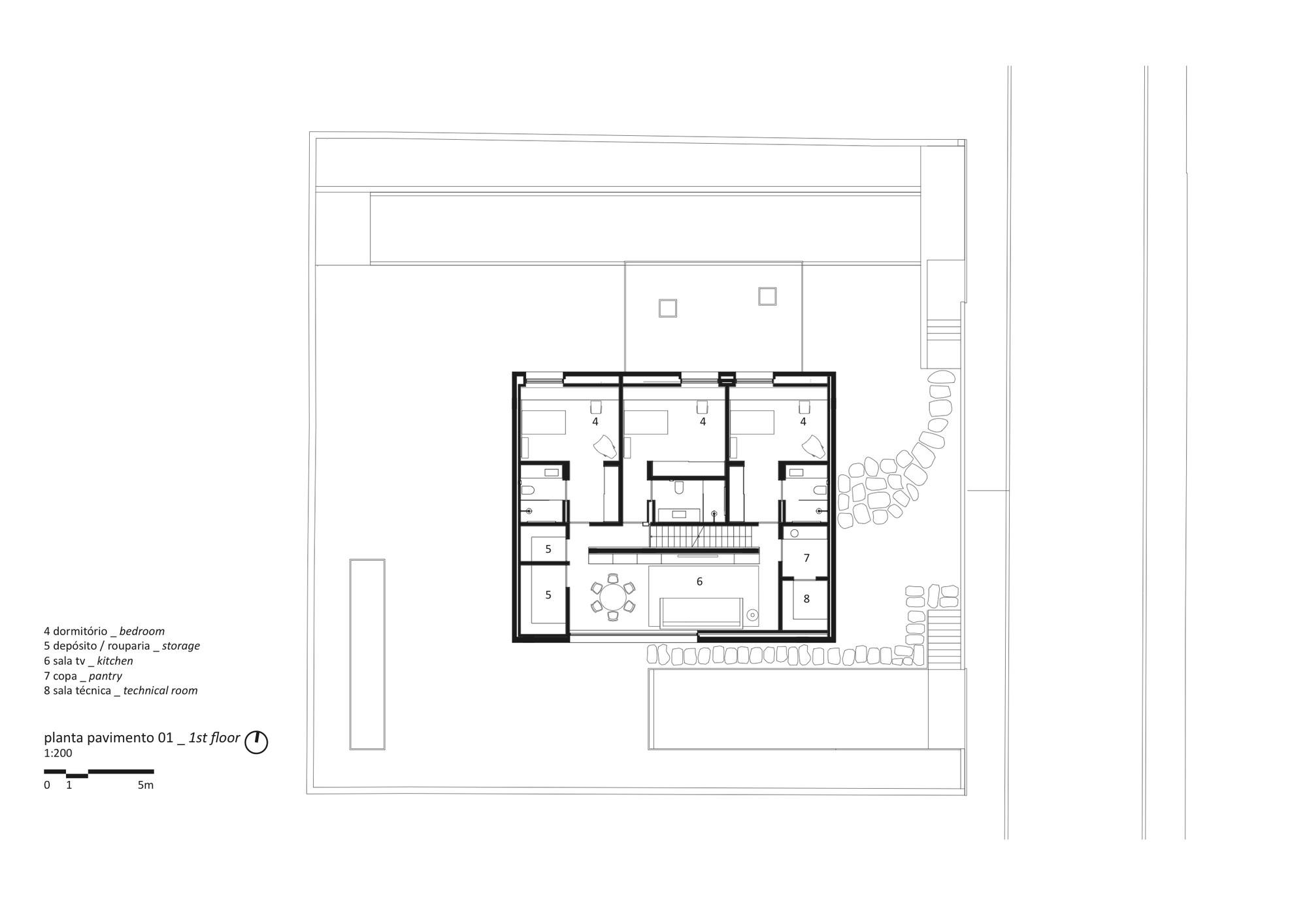 520e7b72e8e44e203000011b cube house studio mk27 marcio kogan suzana glogowski first floor plan png