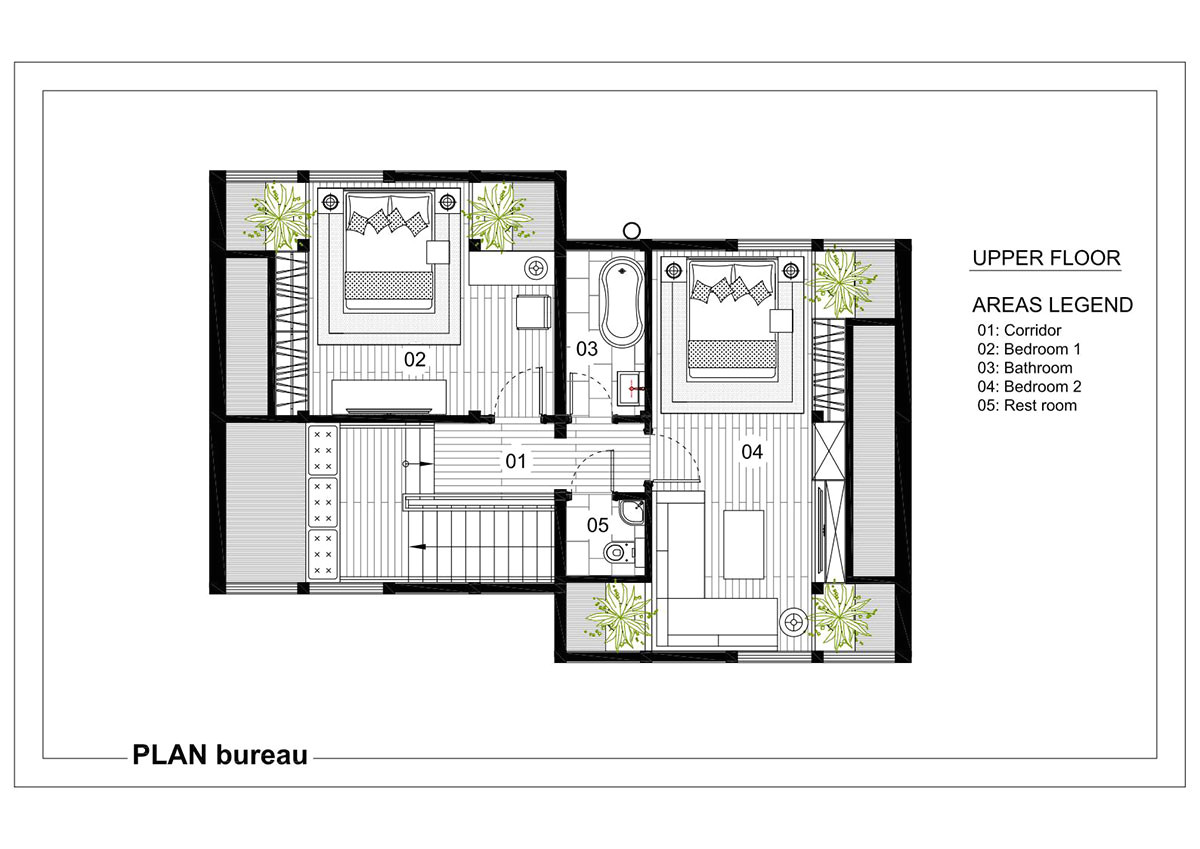 Cube House Design Layout Plan Valley House Modern Cabins