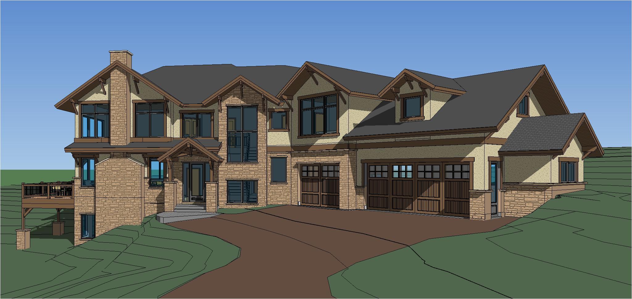 elk meadow estates custom home plans completed
