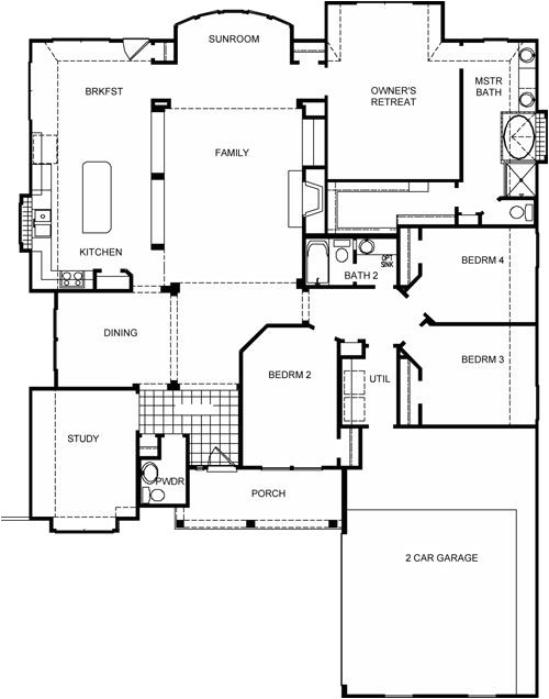 David Weekley Homes Floor Plans Campbell Floor Plan by David Weekley Homes House