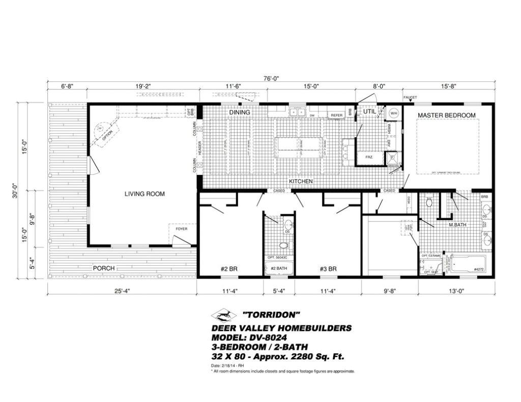 deer valley mobile home floor plans