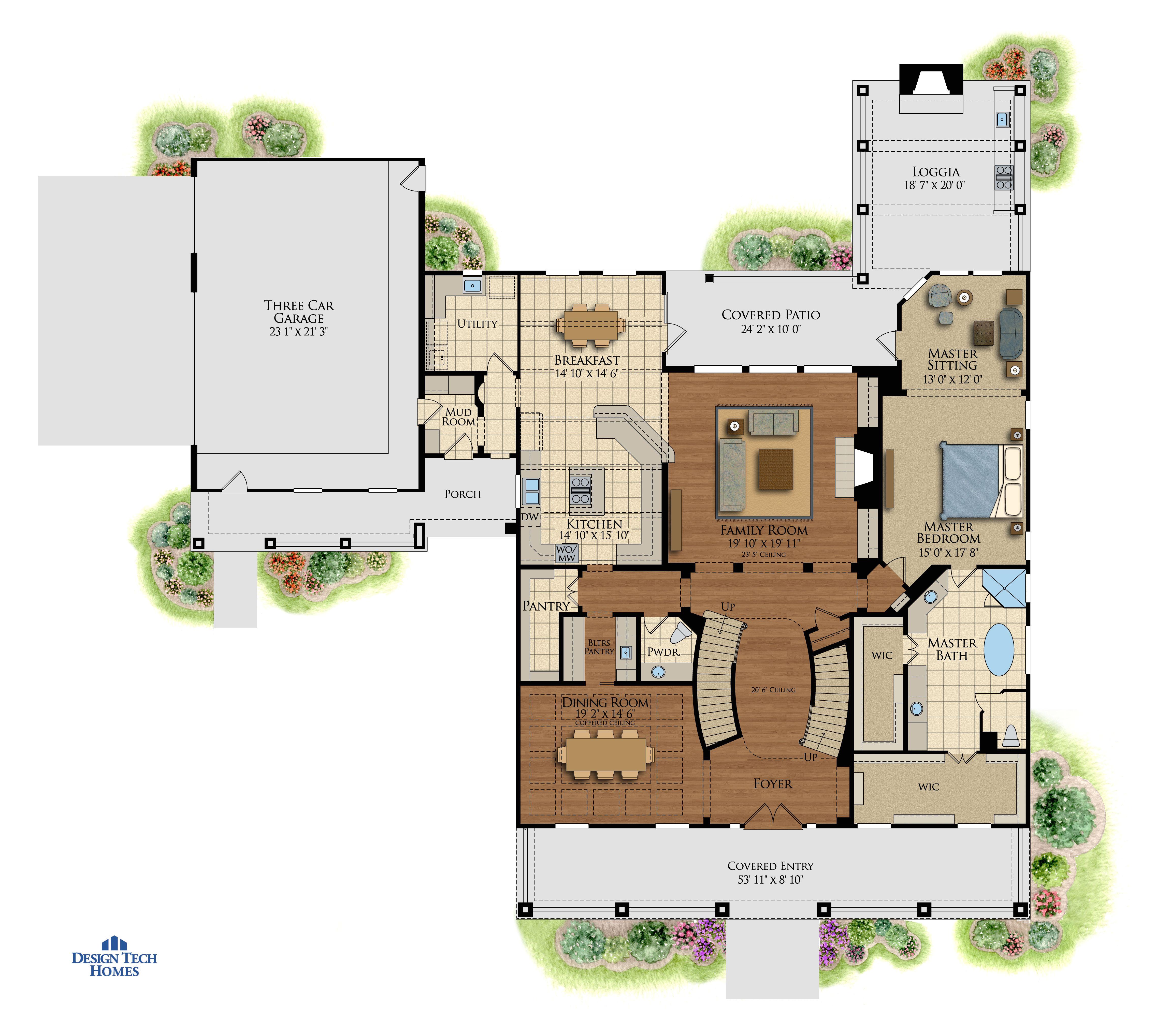 design tech home floor plans