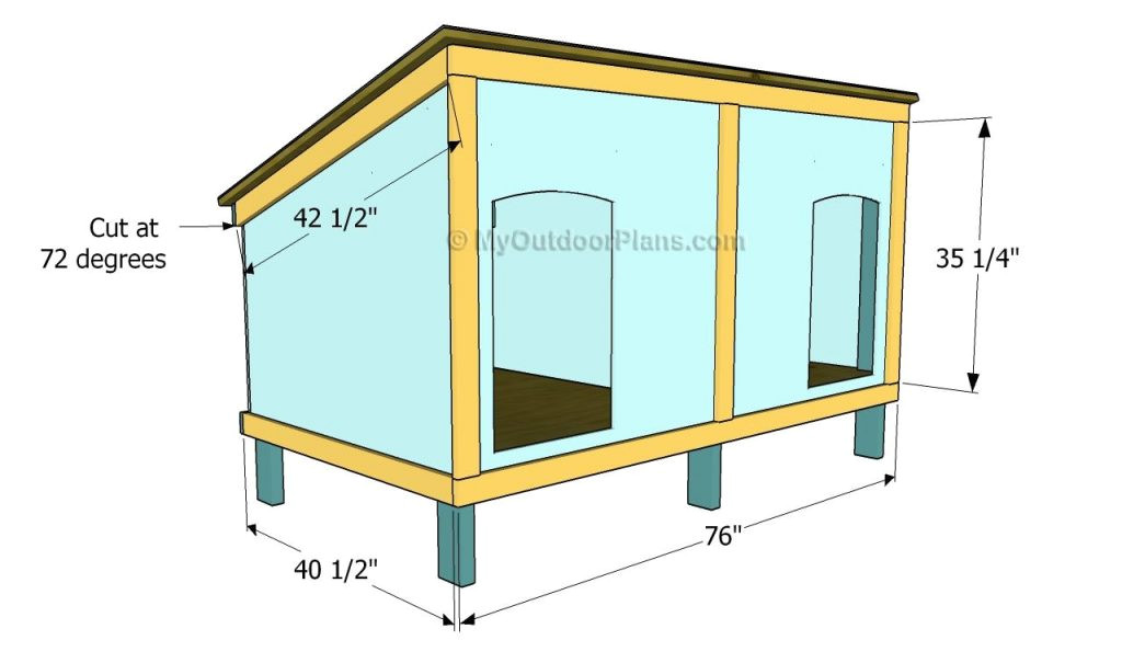 easy dog house plans large dogs