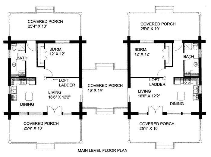 dog trot house plan