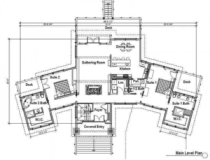 2 bedroom house plans with 2 master suites for house