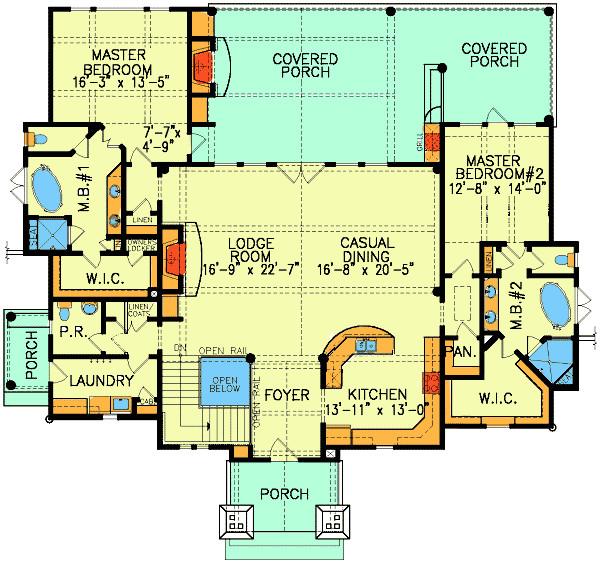 dual master suite home plans