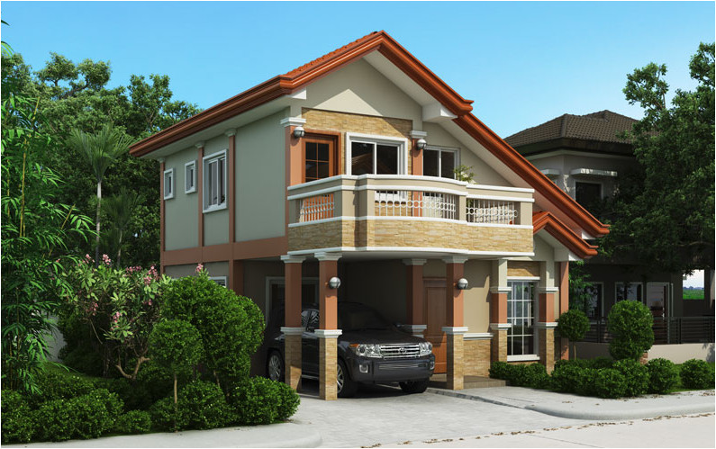 two storey house plan with balcony