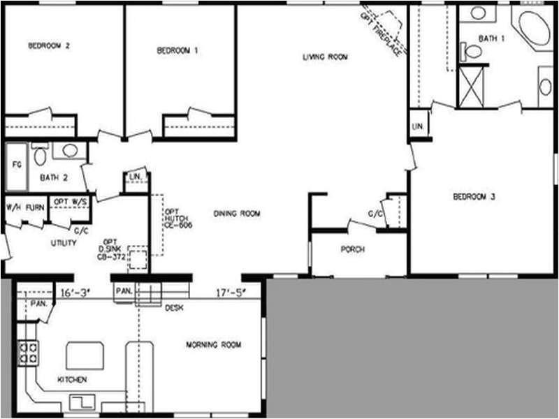 double wide modular home floor plans