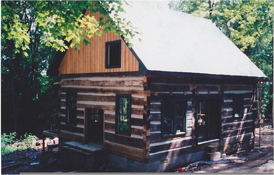 hand hewn cabin