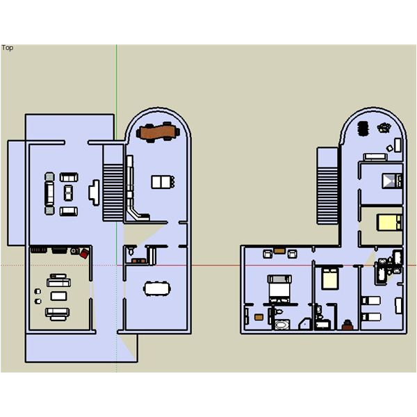 google sketchup house plans 2d