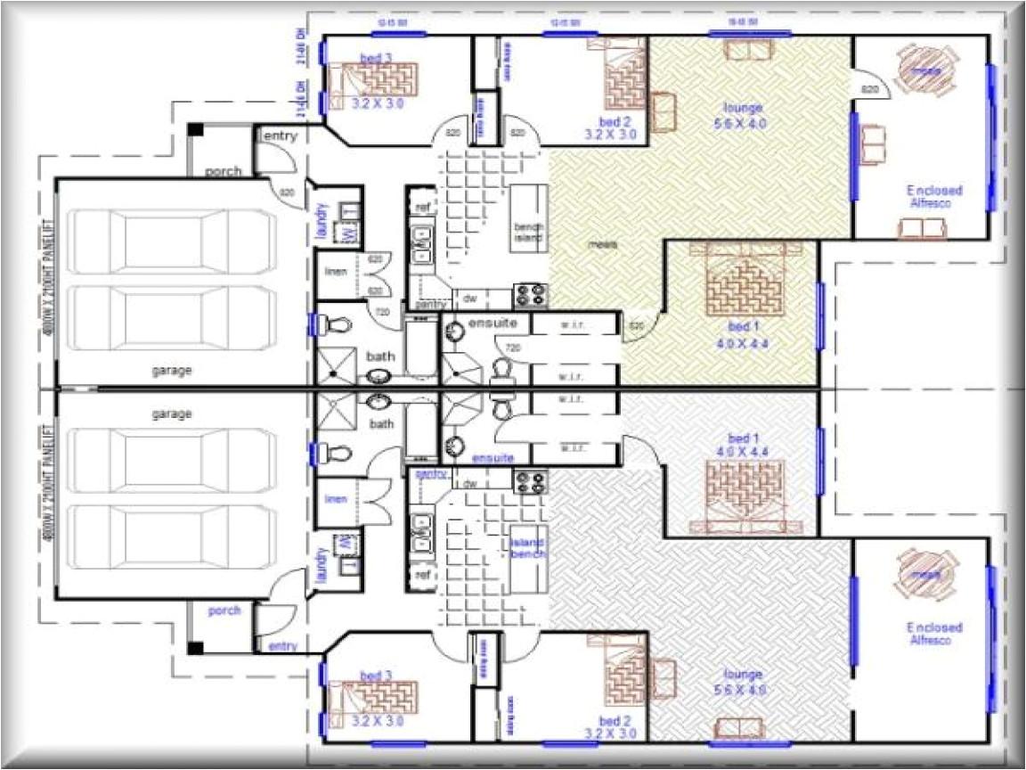 2 bedroom duplex plans with garage