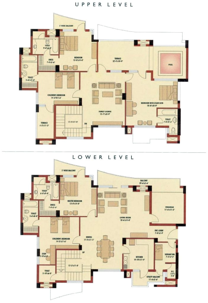 5 bedroom duplex house plans