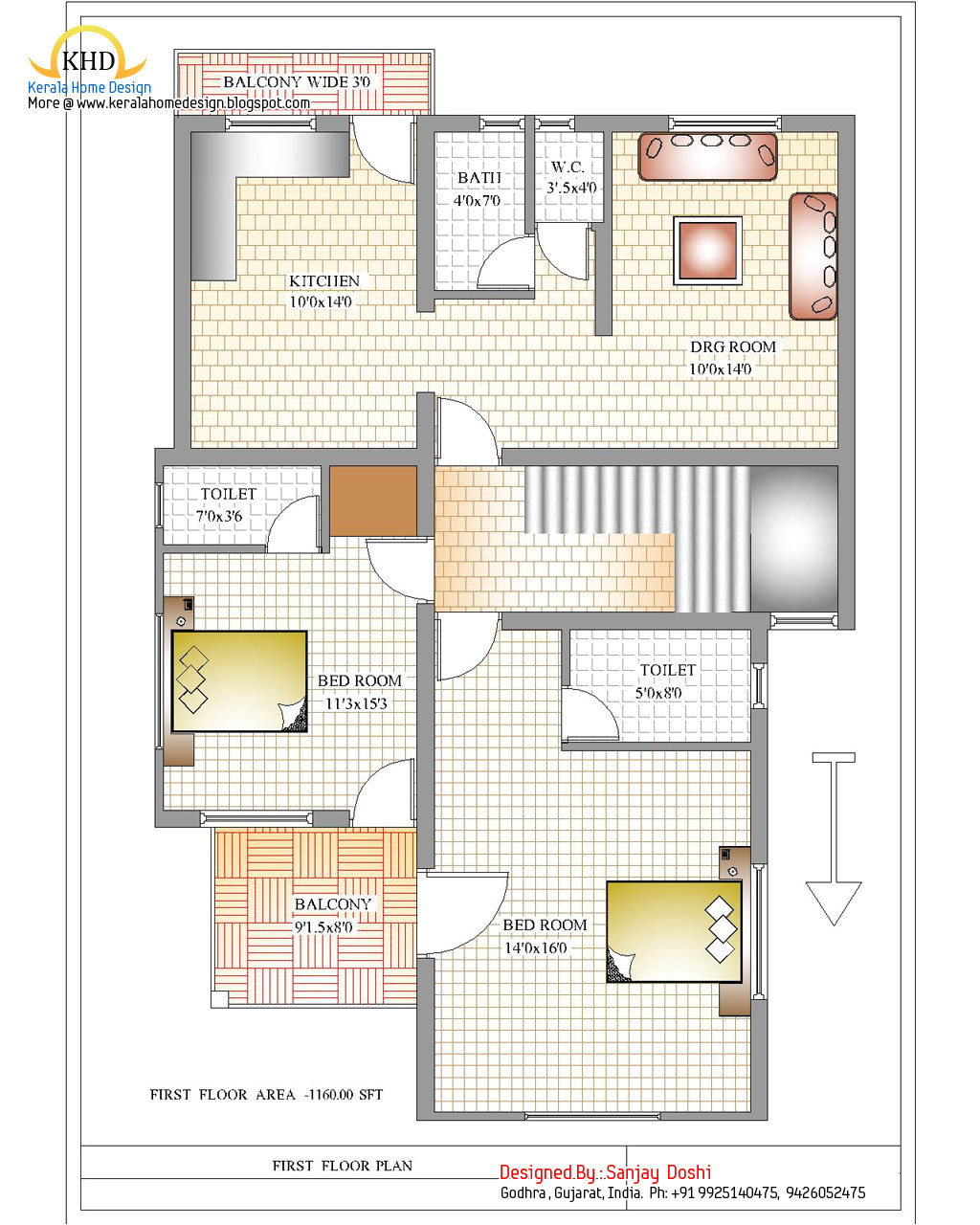 duplex house plan and elevation 2310 sq