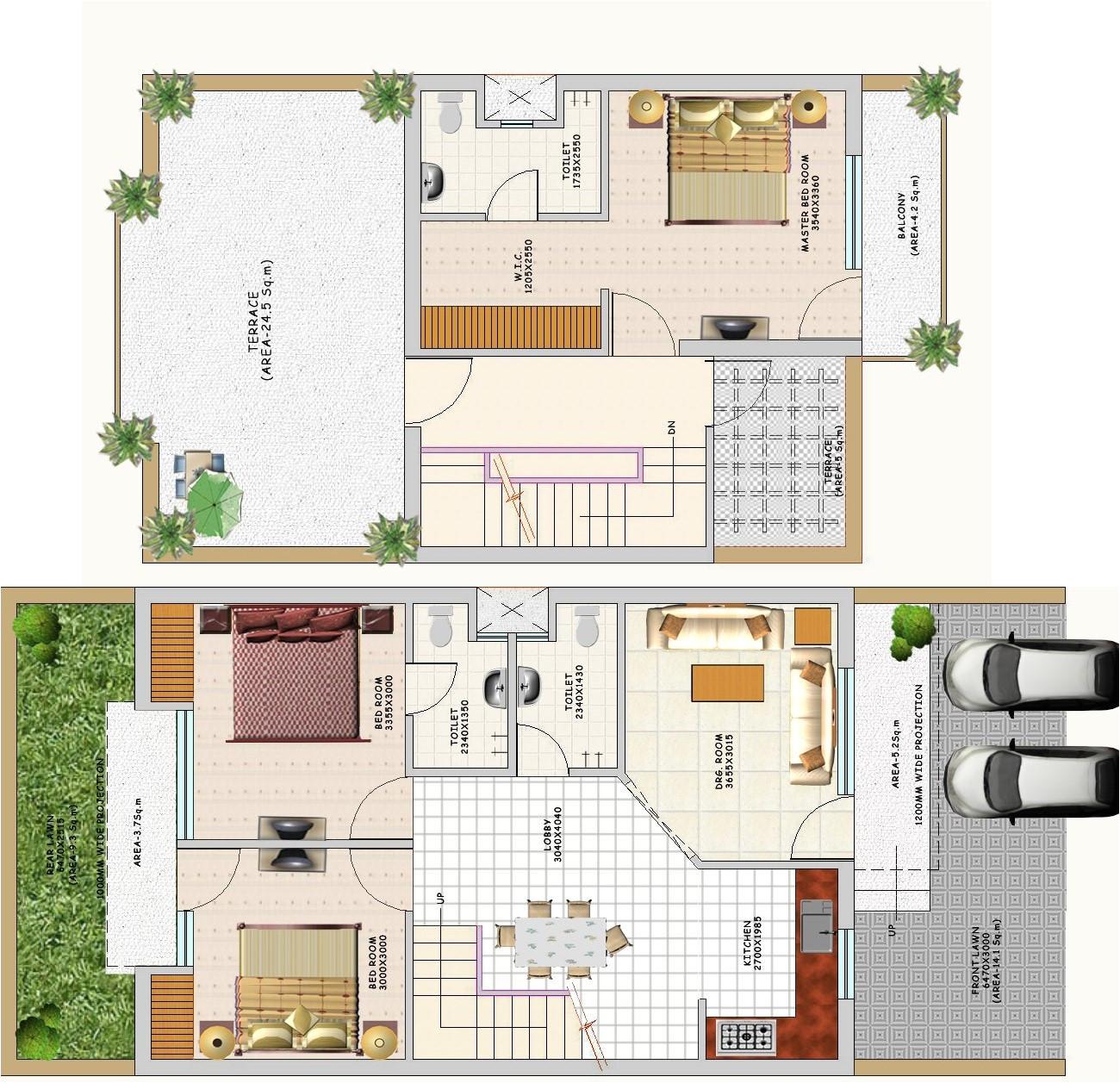 famous duplex house floor plans indian style