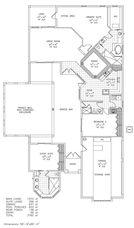 villa mediterranean new home floor plan