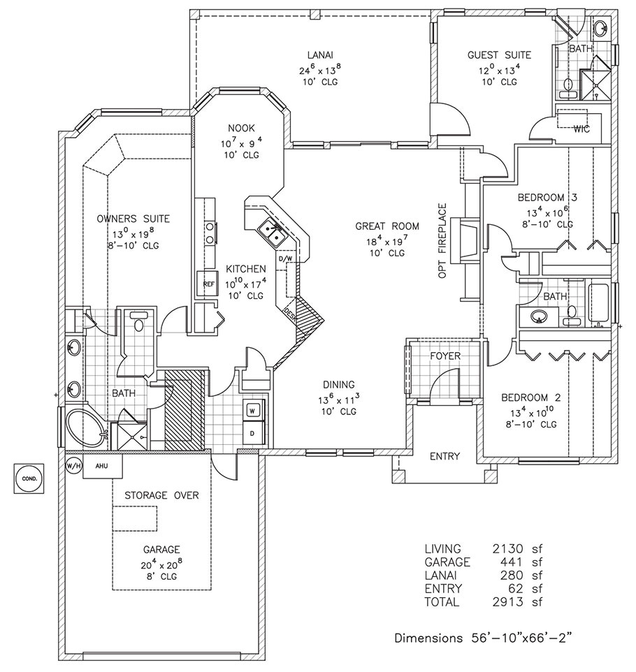windgate new home floor plan