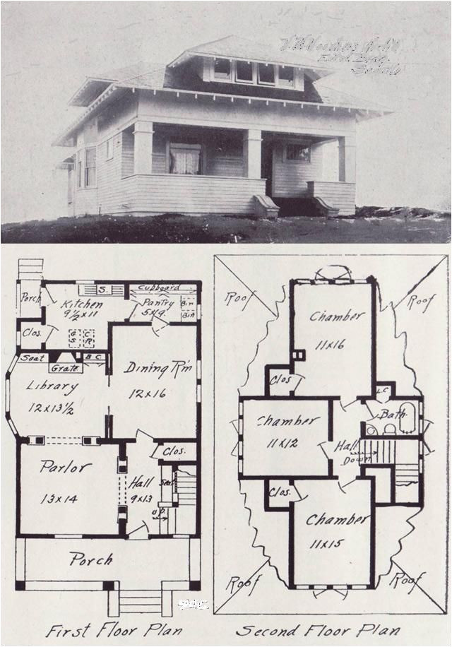 early 1900 s house floor plans