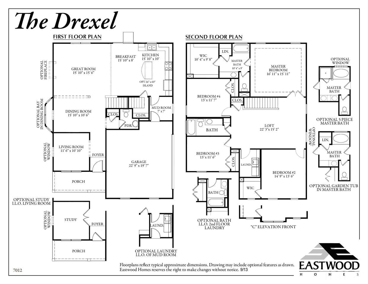 Eastwood Homes Cypress Floor Plan Eastwood Homes Drexel Floor Plan Home Design and Style