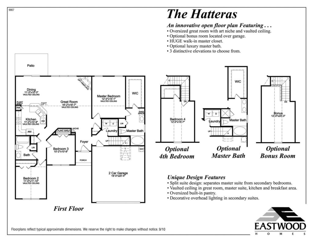 hatteras eastwood homes intended for great eastwood homes floor plans