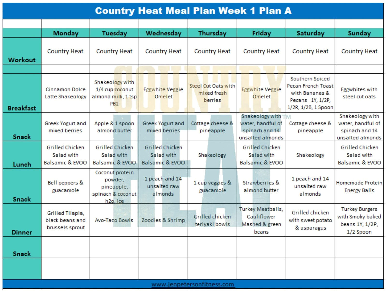 Eat at Home Meal Plan Reviews Clean Eating Mom Next Door Country Heat Week 1 Review and