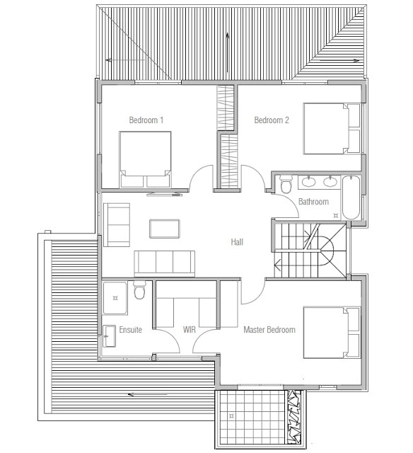 affordable modern house plan ch111