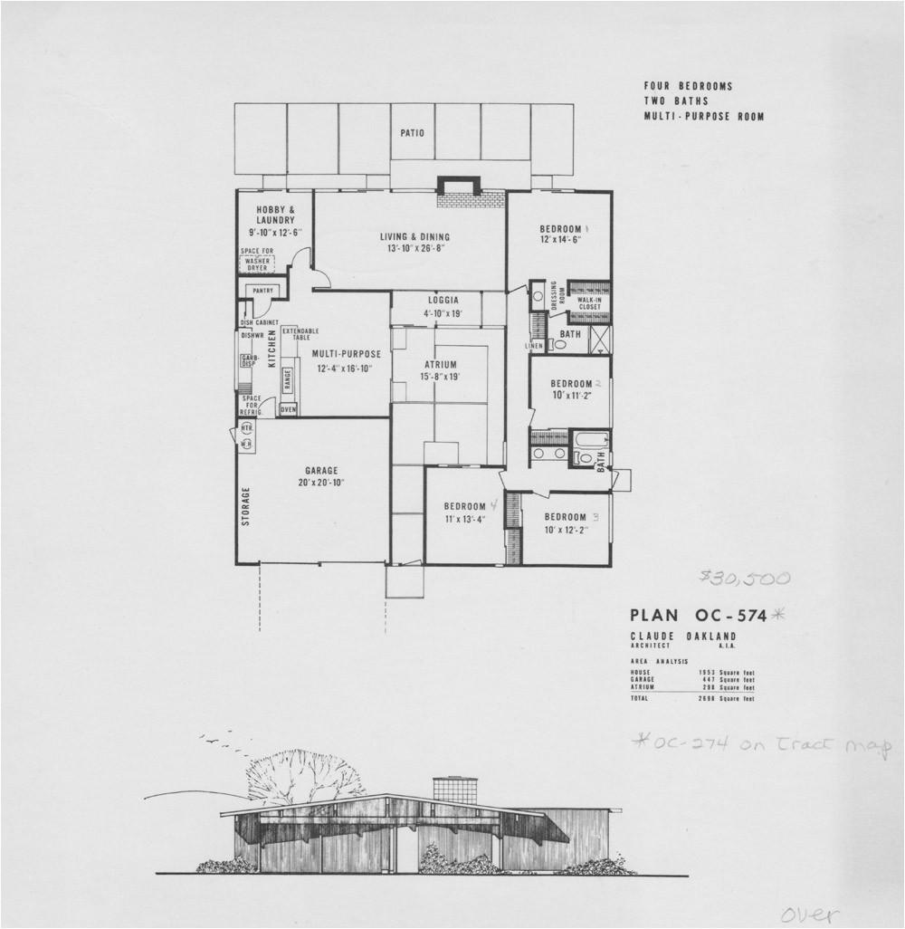 eichler floor plans fairhills