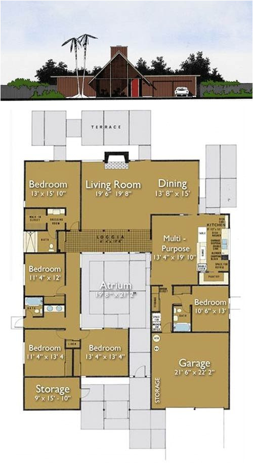 Eichler Style Home Plans Awesome Eichler Home Floor Plans New Home Plans Design