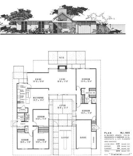 eichler homes floor plans