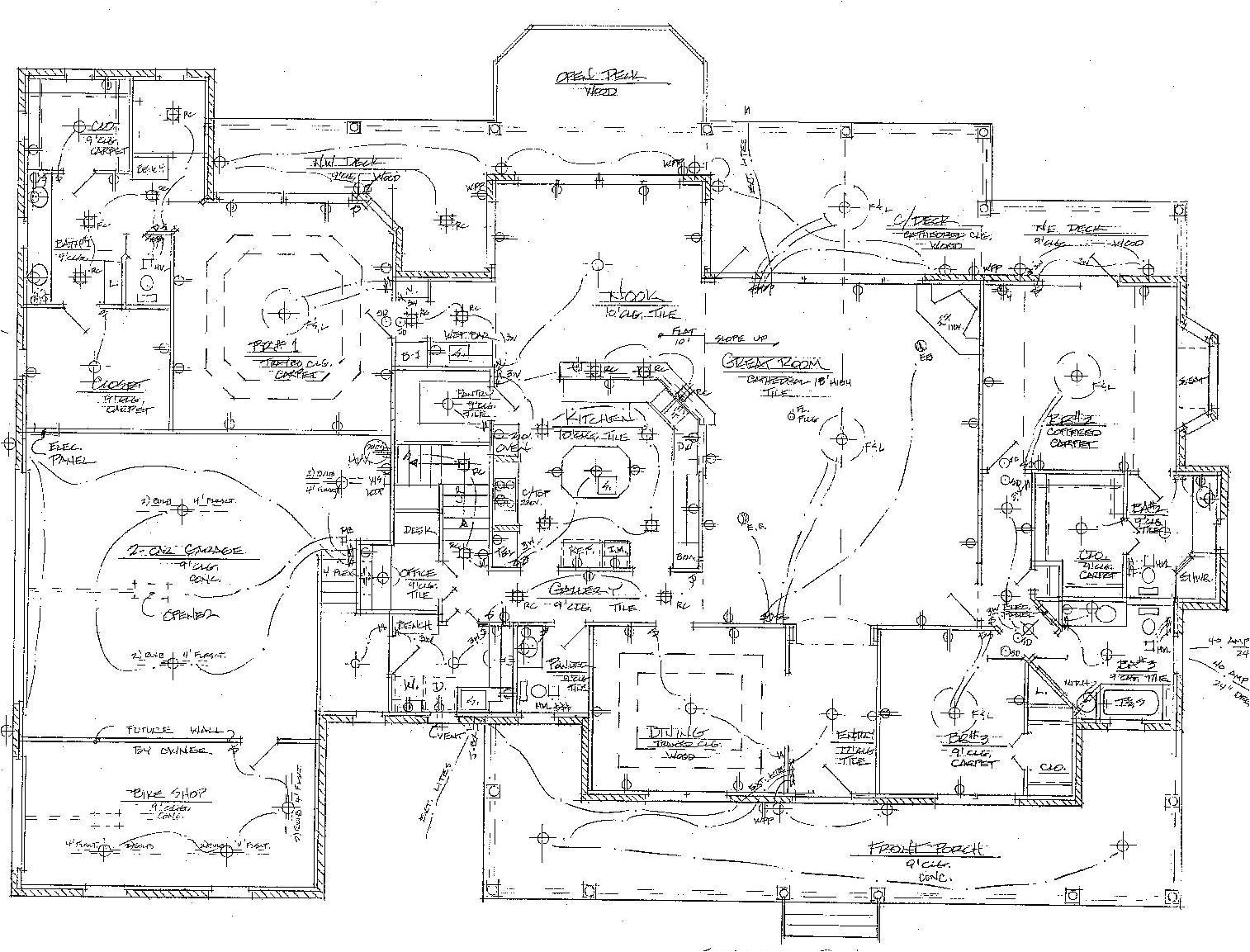 house wiring plans floor plan electrical diagram